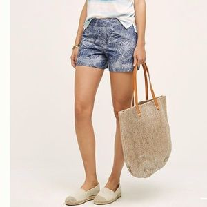 NWT Anthropologie Cartonnier Palm Leaf Shorts